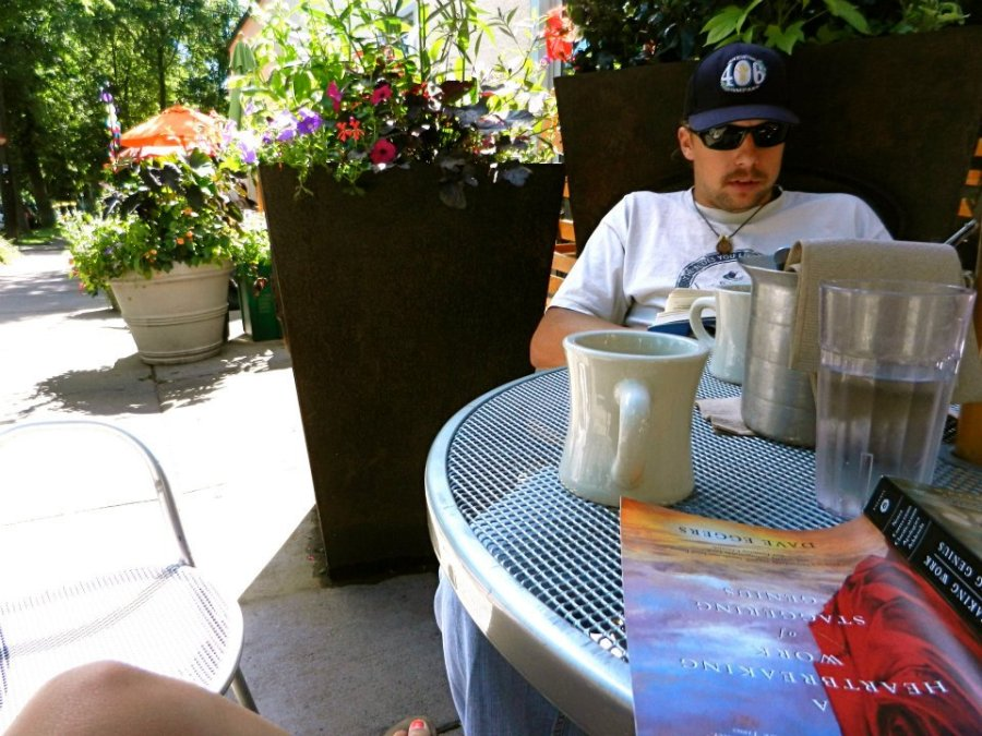 Reading at the Birchwood Cafe in Minneapolis, MN